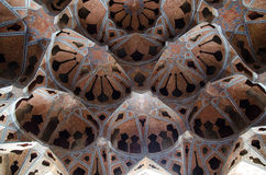 Historic iranian architecture. Ceiling of an historic iranian palace Royalty Free Stock Images