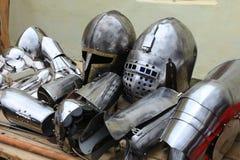 Historic iron armor closeup Royalty Free Stock Image