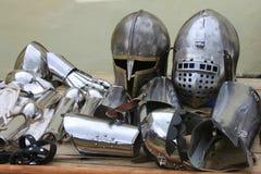 Historic iron armor closeup Stock Images