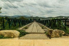 Historic iron bridge Built by the Japanese. During world war 2 Royalty Free Stock Photography
