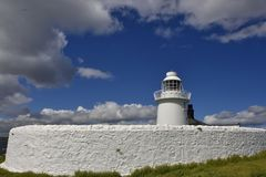 Historic Island Lighthouse of North East England Royalty Free Stock Image