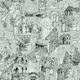 Historic Italian Architecture Collage seamless pattern Stock Photography