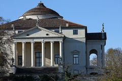 Historic Italian Palladian villa called La Rotonda Royalty Free Stock Photos