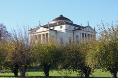 Historic Italian Palladian villa called La Rotonda Stock Image