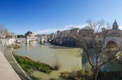 Historic Italian town. stock photo
