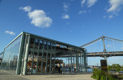 Historic Jane's carousel in Brooklyn Bridge Park Royalty Free Stock Photo