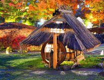 Historic Japanese Huts Royalty Free Stock Images