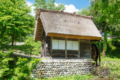 Historic Japanese village Shirakawa-go in summer Royalty Free Stock Image