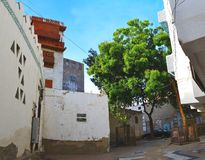 Historic jeddah yard. At center of city of jeddah at afternoon Stock Image