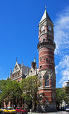 Historic Jefferson Market Courthouse. Jefferson Market Courthouse (now library), 6th Avenue and West 10th Street, New York City--built from 1874 - 1877 royalty free stock photo