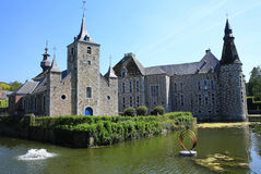 The historic Jehay Castle, Belgium. The historic Jehay Castle, a water castle,  Belgium Stock Photos