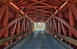 Historic Jericho covered bridge trusswork details royalty free stock photo