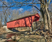 Historic Jericho covered bridge. A view of the historic Jericho Covered Bridge near Jerusalem, Harford County in Maryland, United States and near historic stock image