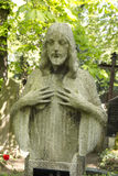 Historic Jesus on the  mystery spring old Prague Cemetery, Czech Republic Stock Photography