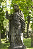 Historic Jesus from the old mystery Prague Cemetery, Czech Republic Royalty Free Stock Image