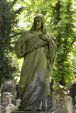 Historic Jesus from the old mystery Prague Cemetery, Czech Republic Stock Image