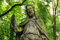 Historic Jesus on the old Prague Cemetery, Czech Republic Stock Photos