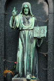 Historic Jesus on the old Prague Cemetery, Czech Republic Royalty Free Stock Image