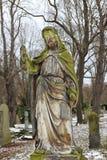 Historic Jesus on the old Prague Cemetery, Czech Republic Stock Photography