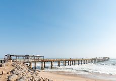 Historic jetty, built 1905, in Swakopmund Stock Images