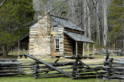 Historic John Oliver Cabin Stock Photo