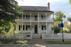 Historic Jones House in New Bern. NEW BERN - OCTOBER 4, 2017: The historic Jones House was used by the Union army as a jail that held Confederate sympathizers Royalty Free Stock Photo