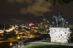 Historic The Scout statue landmark overlooking Kansas City Royalty Free Stock Image