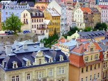Historic Karlovy Vary, Czech Republic Stock Photography