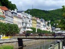Historic Karlovy Vary, Czech Republic Stock Image