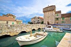 Historic Kastel Gomilica architecture view. Near Split, Croatia royalty free stock image
