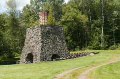 Historic Katahdin Iron Works Maine. Remains of the historic Katahdin Iron Works, an 1800s iron blast furnace in Maine, USA Royalty Free Stock Photos