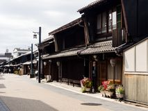Historic Kawaramachi street in Gifu city, Japan Royalty Free Stock Image