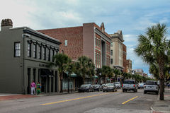 Historic King Street, Charleston, SC. A view down historic King Street in Charleston, SC stock image