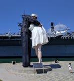 ...the historic kiss Royalty Free Stock Photo