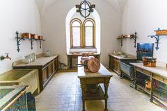 Free Historic Kitchen Inside The Castle Neuschwanstein From King Ludwig 2 Of Bavaria Stock Photography - 167683562