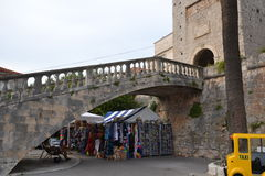 Historic Korcula, souvenir square - Croatia Royalty Free Stock Images