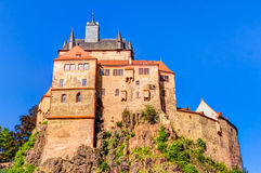 Kriebstein Castle in Saxony, Germany. Historic Kriebstein castle near Waldheim in Saxony, Germany Royalty Free Stock Photography