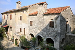 Historic Krsan in Istria, Croatia. Historic Krsan in Istria, a town on a hilltop, Croatia stock image