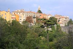 Historic Labin in Istria, Croatia. Historic Labin in Istria, a town in the hillside , Croatia royalty free stock photography