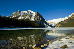 Historic Lake Louise. Aspring photo of Historic Lake Louise, in Banff National Park of Canada Royalty Free Stock Photography
