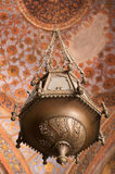 Historic lamp with indian ornament. Historic lamp in Sikandra, India Stock Photography