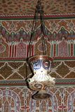 Historic lamp. Maroc historic architecture Marrakech lampe palais Mnebhi Royalty Free Stock Images