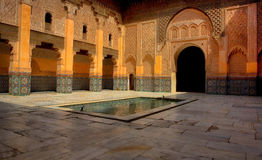 Historic landmark of Ben Youssef Madrasa Royalty Free Stock Image