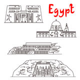 Historic landmarks and sightseeings of Egypt Royalty Free Stock Photography