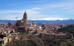Historic landscapes of Segovia Spain royalty free stock images