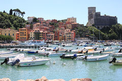 Historic Lerici in Liguria, Italy stock images