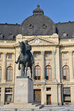 Historic Library. Old Central University Library In Bucharest Stock Image
