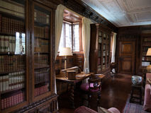 Historic library. Library within an english castle stock photo