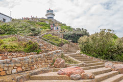 Historic lighthouse at Cape Point Royalty Free Stock Photos