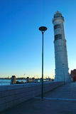 The historic lighthouse on the island of Murano in Venice. Stock Images